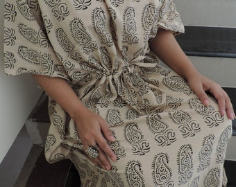 Indian Paisley Kaftan , Caftan, Perfect long dress,, For to be Moms, Sleepwear, Best Gift for her ,Christmas gift