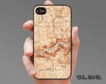 Vintage Yosemite National Park California Map iPhone Case for iPhone 6, iPhone 5/5s, or iPhone 4/4s, Samsung Galaxy S5, Galaxy S4, Galaxy S3