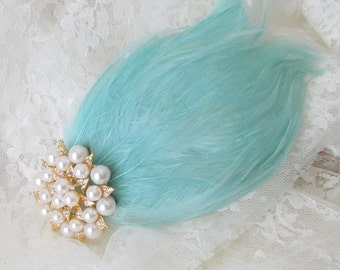 Feather Fascinator /   Feather Headpiece / 1920's headpiece