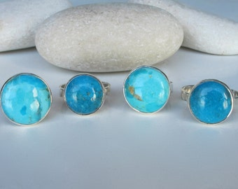 Blue Turquoise Ring- December Ring- Ring- Something Blue- Blue Stone Ring- OOAK Ring- Statement Ring- Ring for her- December Birthstone Ring