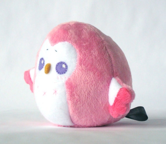 Squishy Bunny Pillow : Pink Chubby Owl Squishy Plush Doll