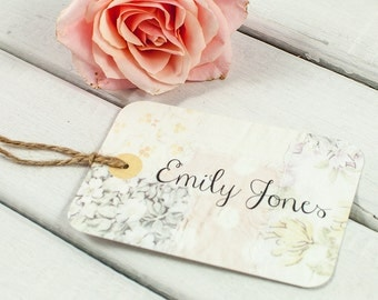 Floral Patchwork luggage tag place card