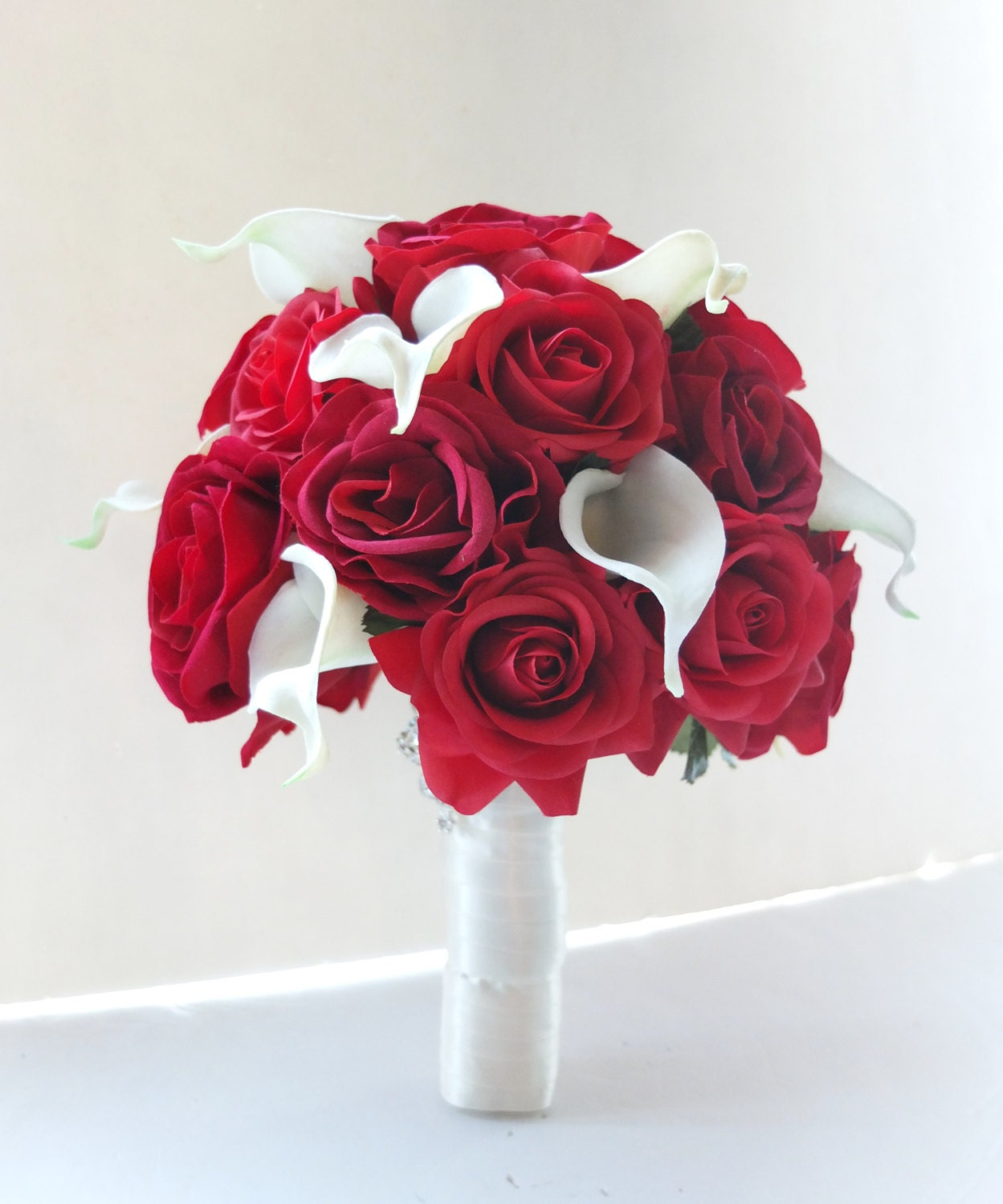 Bouquet de mariage rose rouge et bouquet de par for Bouquet rose rouge