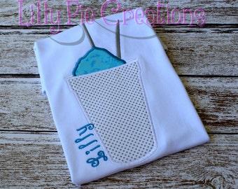Custom Personalized Snowball Applique Kids Shirt, Girls Snowball Shirt, Boys Snowball, Baby Snowball, Snow Cone Shirt, Kids Summer Shirt