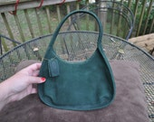 Coach Sonoma Emerald Green Pebbled Suede Mini Ergo 4399