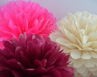 22 Tissue Paper POM POMS // Choose your Colors // Tissue Pom Poms // Wedding Decoration // Bridal Shower Decor // Nursery // Birthday