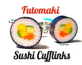 Vegetable Roll Sushi Cuff Links