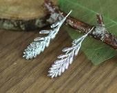 Crocosmia Flower Buds  Sterling Silver Earrings