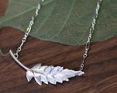 Fern Leaf Pendant Necklace