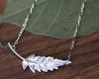 OVERSTOCK SALE Fern Leaf Pendant Necklace