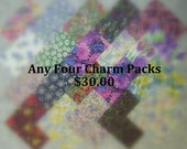 Any 4 Charm Packs, You Choose Colors, Multiple Purchase Discount.