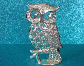 Owl Earring Stand, Display, Holder ~ Vintage 1960s/1970s Torino