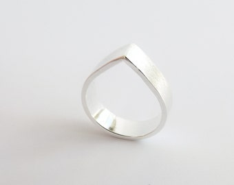 Teardrop Ring,Stacking Rings,Modern Rings,Silver Geometric Rings,Simple Modern Rings, Open Teardrop Ring, Minimalist Jewelry,Simple Ring