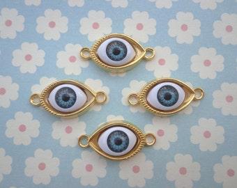 SALE --50 pcs Charms / eye charms / eye / eye findings / jewelry accessories