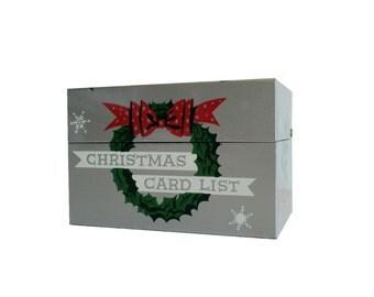 Vintage Stylecraft Christmas Card Tin File Box