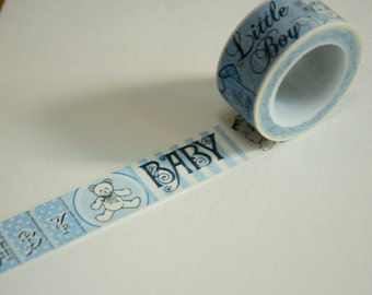 1 Roll of Japanese Washi Tape Roll- Baby Boy