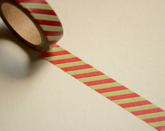 1 Roll of Japanese Washi Tape Roll- Stripes