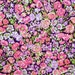 Liberty Chive Pink Lilac Purple Small Dense Floral Pattern Ideal for Patchwork Quilting Applique Sewing Liberty of London Cotton Tana Lawn
