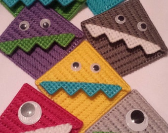 Plastic Canvas Monster Corner Bookmark