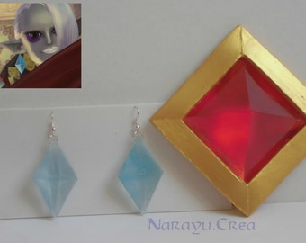 The legend of Zelda Skyward Sword Ghirahim's jewels accessories