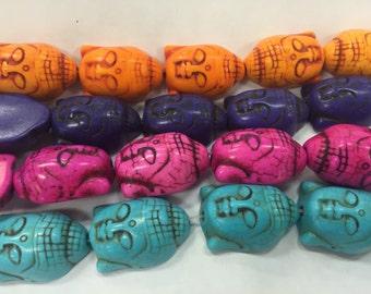 29x28mm buddha howlite beads, 14beads