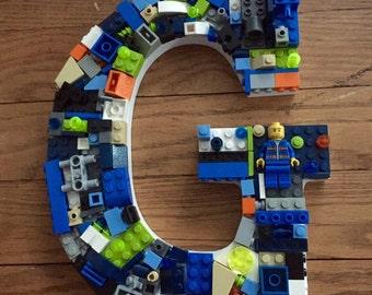 Custom wall  letter ,  G, toy bricks, alphabet letters
