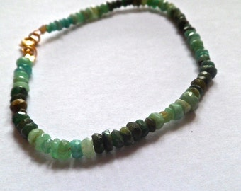 natural Colombian emerald bracelet for him