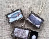 Seaside Matchbox Ornaments