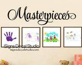 Masterpieces Wall Decal - Art Display Decal - Art Wall Decals - Vinyl Wall Decals - Playroom Decal - Stickers