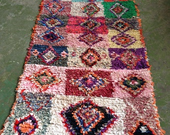 REDUCED Vintage Moroccan Boucherouite Rug