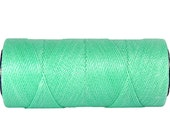 Waxed Polyester Cord - 15 meters/16 yards - Jewelry Cord - Macrame Cord 0.8mm - Mint