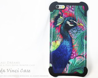 Colorful Peacock iPhone 6 Plus - 6s Plus SUPER Bumper Case - Nemali Dreams - Peacock Floral 6 Plus Case