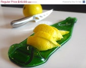 SALE Today Only Flattened Sprite Soda Bottle Lemon / Lime Cocktail Garnish Dish