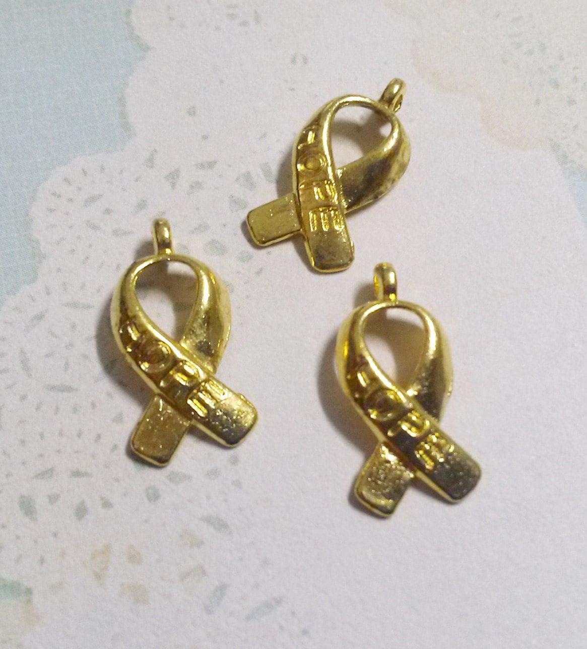 cancer awareness ribbon pendant awareness pendants gold