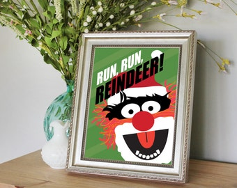 Animal (from the Muppets) Christmas Print