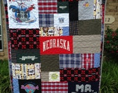 Custom T Shirt Puzzle Design Quilt Memory Quilt Order Quilt You Pick Size - Using Your Shirts - DEPOSIT ONLY