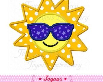 Instant Download Summer Sun Applique Embroidery Design NO:1759