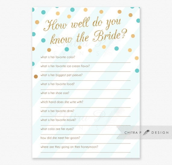 Items Similar To How Well Do You Know The Bride Shower