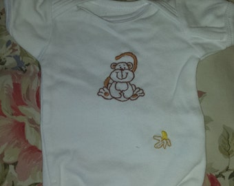 20% Off Use Coupon in the Description - Hand Embroidered Baby Onesie