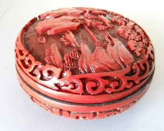 Handmade Cinnabar Box