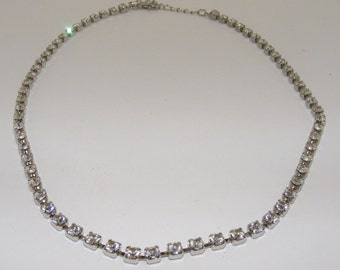 Vintage Rhinestone Chain Necklace