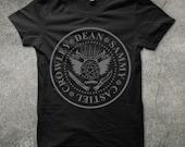 I Wanna Be Supernatural Shirt + Dean + Sammy + Castiel + Crowley