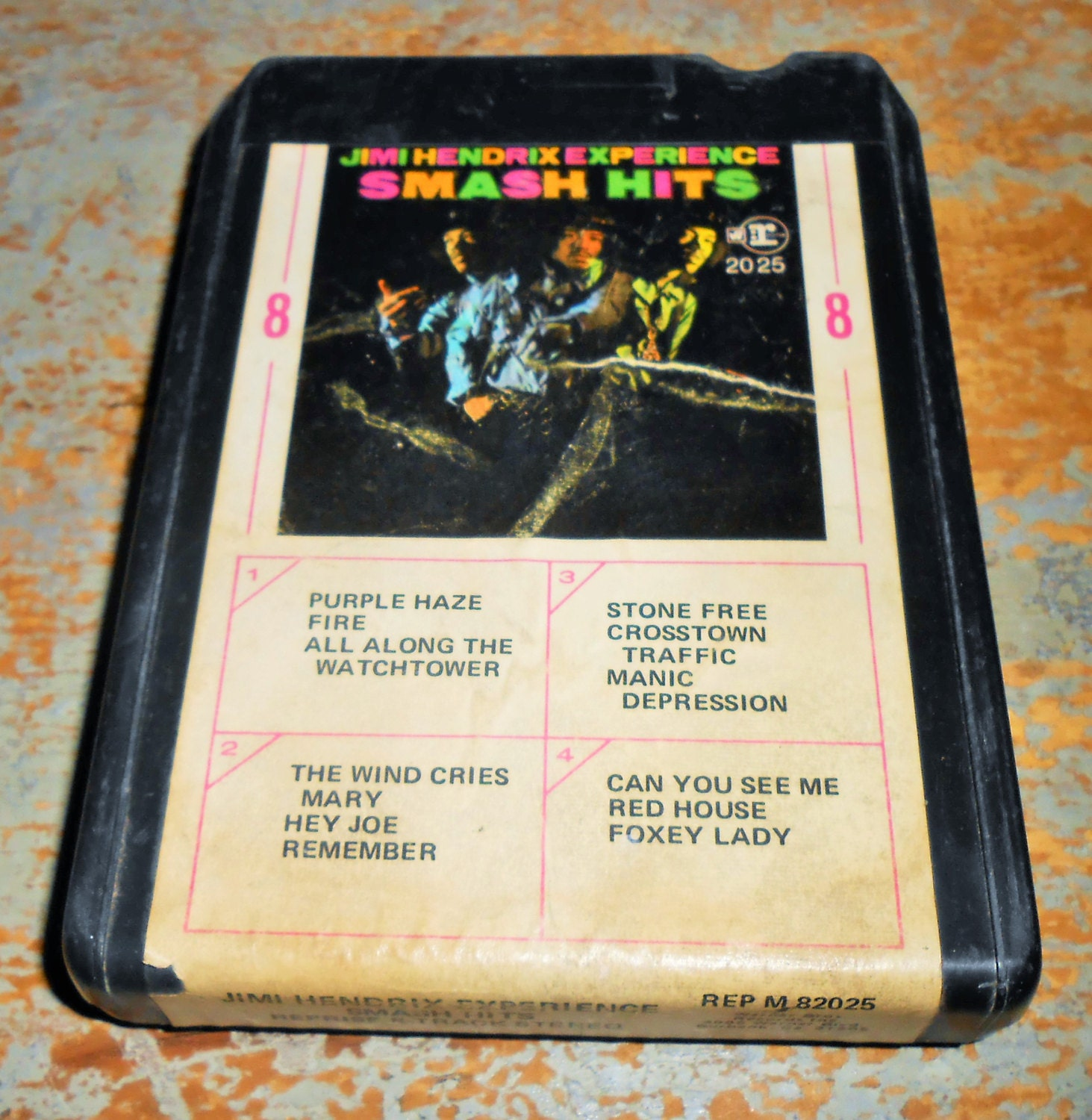 Inside Of A 8 Track Tape: Jimi Hendrix 8 Track Tape Experience Smash Hits 8 By