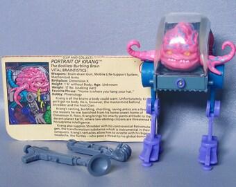 Vintage TMNT Krang Near Complete C85 Plus File Card