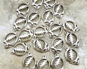 20 Pewter Grateful Dead Head Charms  - 5204