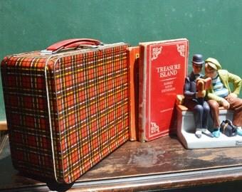 Child's Plaid School Lunchbox, 1970s