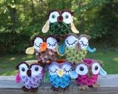 Crochet Owl hook or pen pot holder. Ready to ship.