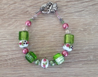 "Beaded Bracelet - ""Springtime in the Garden Collection"""