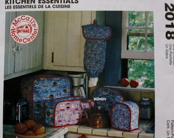 Toaster Cover /Placemats /Napkins Sewing Pattern /Kitchen Essentials / McCalls 2018 /Home Decorating Craft