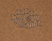 "3 Sets 1/4"" Silver Metal Rings and Sliders Premium Jewelry Quality Bra Adjusters 8mm Bra Making Bramaking"
